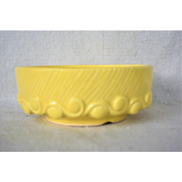 Ceramic Vintage McCoy Yellow Pottery Bowl For Sale - Image 7 of 7