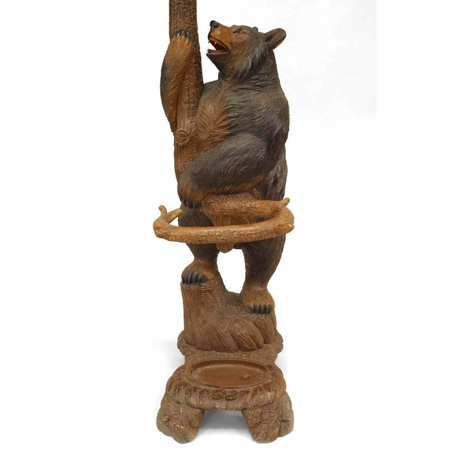 Brown Rustic Black Forest '19th Century' Walnut Hat Rack or Umbrella Stand For Sale - Image 8 of 12