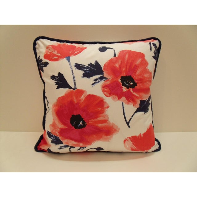 Kate Spade Kravet Kate Spade Floral Amapola Decorative Pillow in Maraschino For Sale - Image 4 of 4