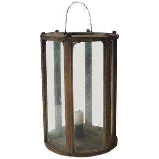Late 19th Century Swedish Round Wooden Lantern For Sale