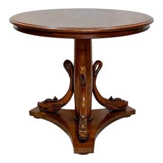 Italian Round Pedestal Center Table For Sale