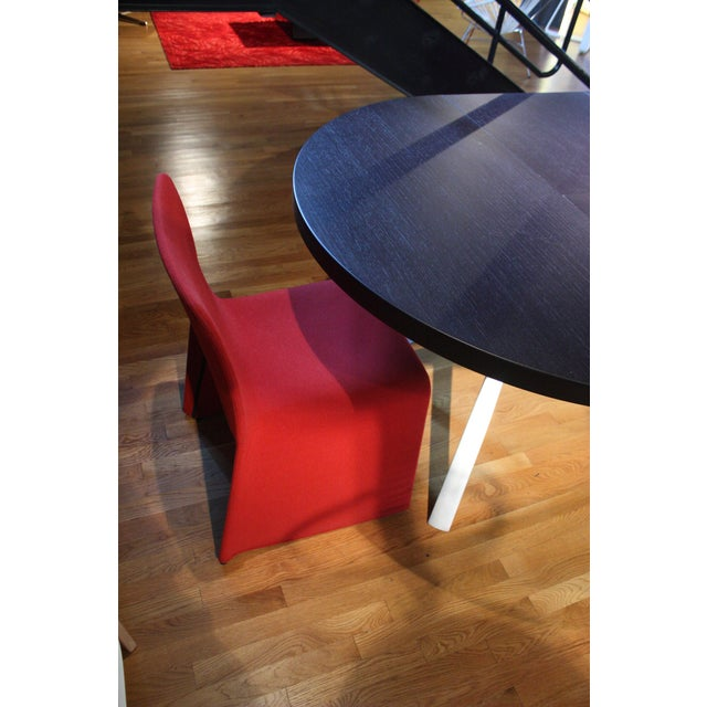 2000s Patricia Urquiola Red Fabric Glove Dining Chairs - a Pair For Sale - Image 5 of 6