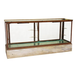 Antique Showcase With Marble Base For Sale