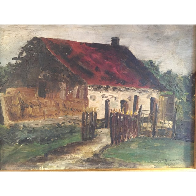 Traditional Barn Oil Painting For Sale - Image 3 of 5