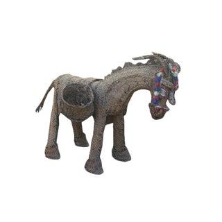 Vintage Spanish Donkey Figurine For Sale