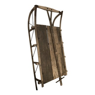 Antique Rustic Wooden Sled For Sale