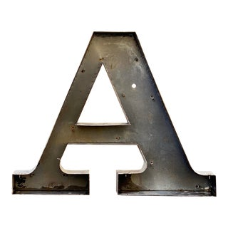 Jumbo Mid Century Channel Letter A For Sale