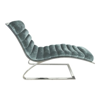 Mid-Century Chaise Longue Attributed to Karl Springer For Sale