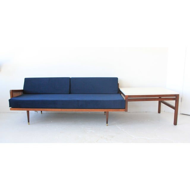 Vintage Mid Century Modern Navy Blue Sectional For Sale - Image 7 of 10