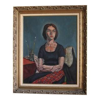 Ben Wilks Painting, Studio Portrait, Untitled