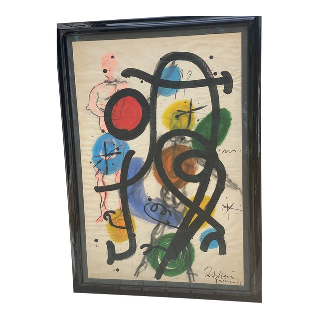 Modern Abstract Painting by Peter Kiel For Sale