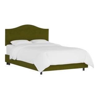 Queen Bed, Velvet Applegreen For Sale