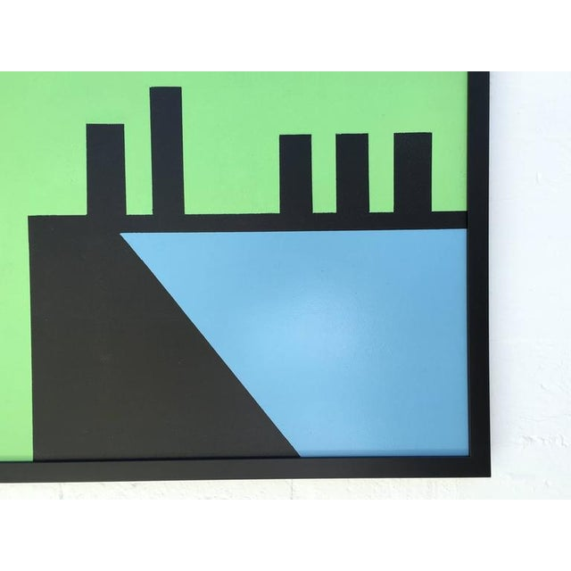 """""""Edge of Town #10"""" Abstract Painting by Listed Artist Rick Orr For Sale In Palm Springs - Image 6 of 7"""