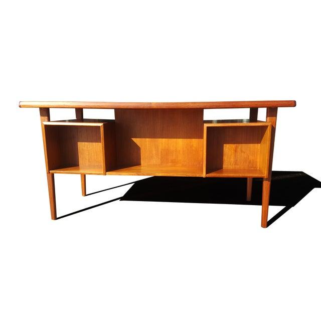 1960s Danish Mid-Century Modern President Desk by Peter Lovig Nielsen For Sale - Image 5 of 10