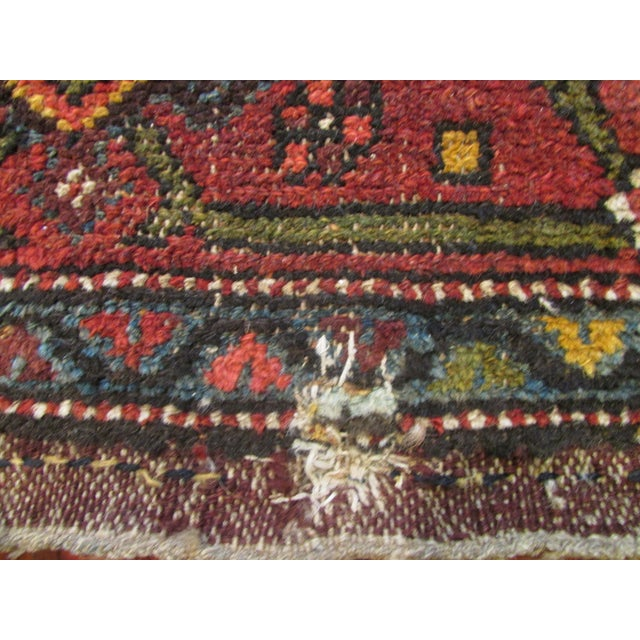 Antique Persian Kurdish Runner - 3′8″ × 16′5″ For Sale In Los Angeles - Image 6 of 9