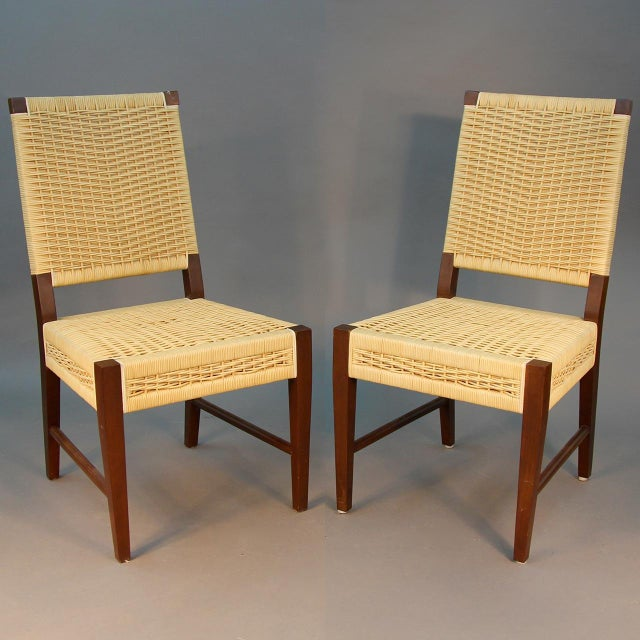 Donghia Dining Chairs with Merbau Wood - Set of 4 - Image 4 of 9