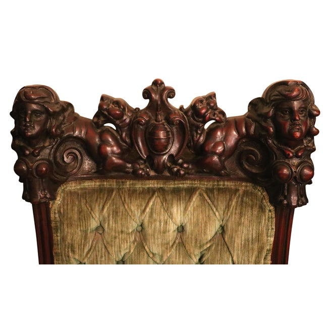 Antique Late 19th. C Karpen Settee & Side Chairs - the Maiden Suite Set of 3 For Sale - Image 9 of 9