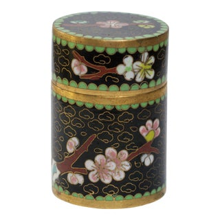 Cylindrical Cloisonne Snuff Box / Weedpot For Sale