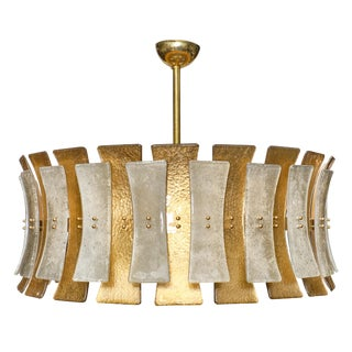 """Murano Glass """"Clessidre"""" Chandelier For Sale"""