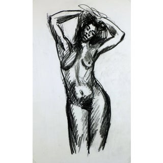 Charcoal Sketch of Nude Female For Sale