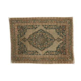 "Antique Jalili Tabriz Square Rug Mat - 1'10"" X 2'5"" For Sale"