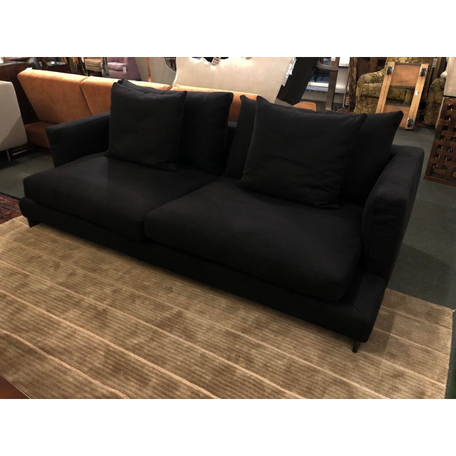 Black Camerich Lazy Time Small Sofa From the Alchemy Collection For Sale - Image 8 of 9