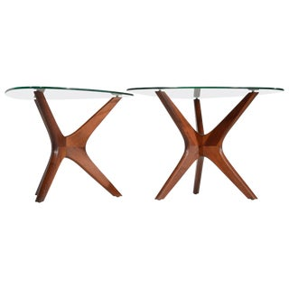 "Pair of Adrian Pearsall Walnut ""Jacks"" End Tables For Sale"