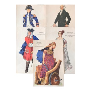 1920s British Historical Teaching Posters, Set of 5 (Bodacia, Duke of Marlborough, Queen Victoria, George Washington, Lord Nelson) For Sale