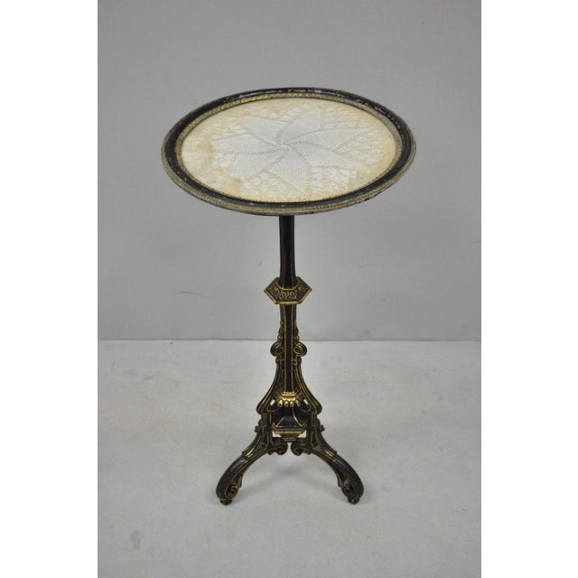 19th Century Antique Cast Iron French Victorian Pedestal Fern Stand Table For Sale - Image 10 of 10