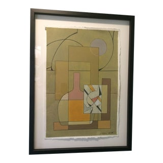 1966 Williamson Cubist Abstract Painting For Sale
