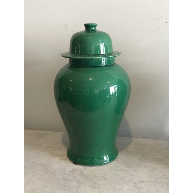 Add a punch of bright emerald green to your space with these pristine ginger jars. Traditional, yet clean, these puppies...