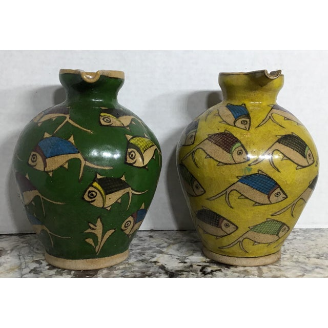 Vintage Persian Ceramic Vessels - A Pair - Image 3 of 11