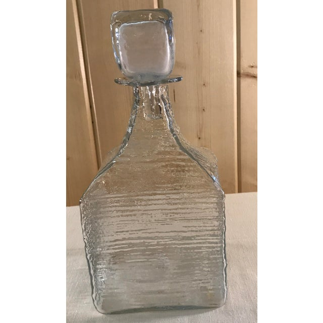 Mid-Century Modern Blown Decanter with Stopper - Image 4 of 9