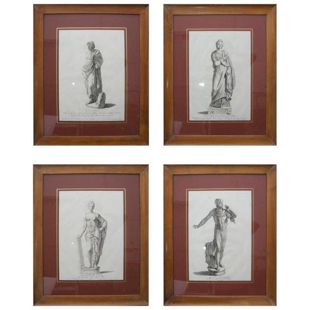 19th Century Neoclassic Engravings - Set of 4 For Sale - Image 13 of 13