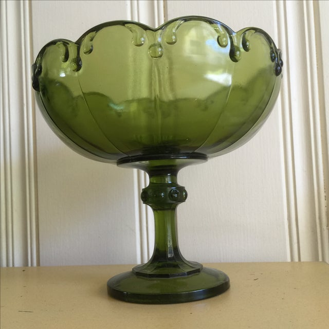 Vintage Green Glass Bowl - Image 6 of 9