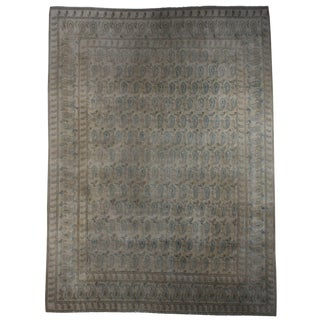 Vintage Mid-Century Persian Kashan Hand-Knotted Wool Rug - 10′ × 13′3″ For Sale