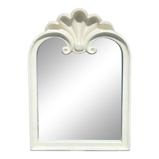 Vintage Hollywood Regency Shell Mirror For Sale
