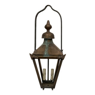 Vintage English Copper Lantern For Sale