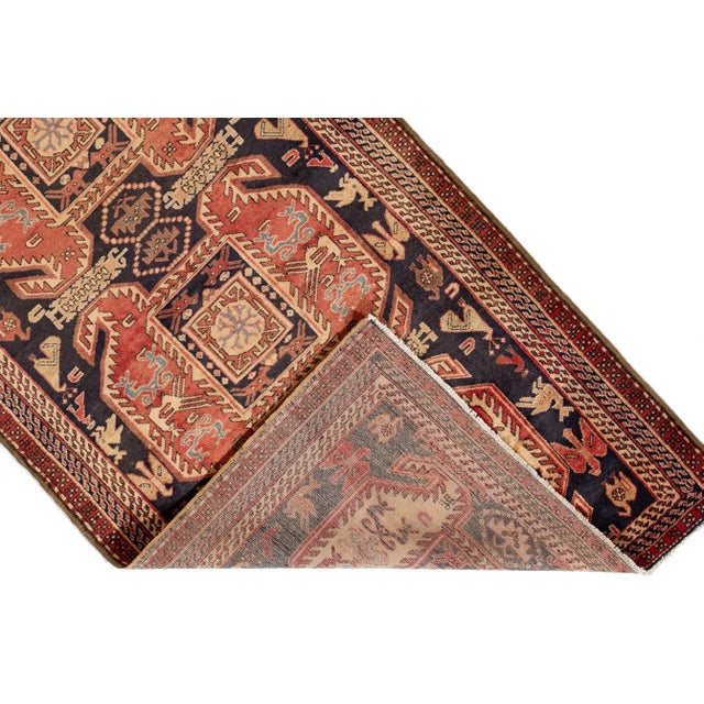 "Apadana - Vintage North West Persian Rug, 4'3"" X 10'4"" For Sale - Image 4 of 8"