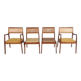 Jens Risom Mid-Century Modern Chairs- Set of 4 For Sale