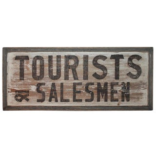 19th Century Tourist Trade Sign For Sale