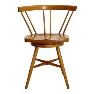 1960s Mid Century Modern Paul McCobb Spindle Back Swivel Chair