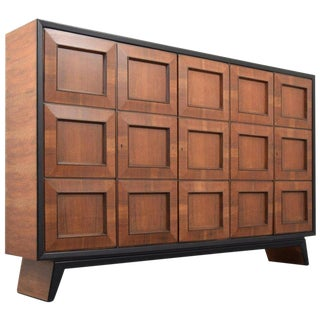 Mid-Century Modern Monumental Osvaldo Borsani Cabinet For Sale