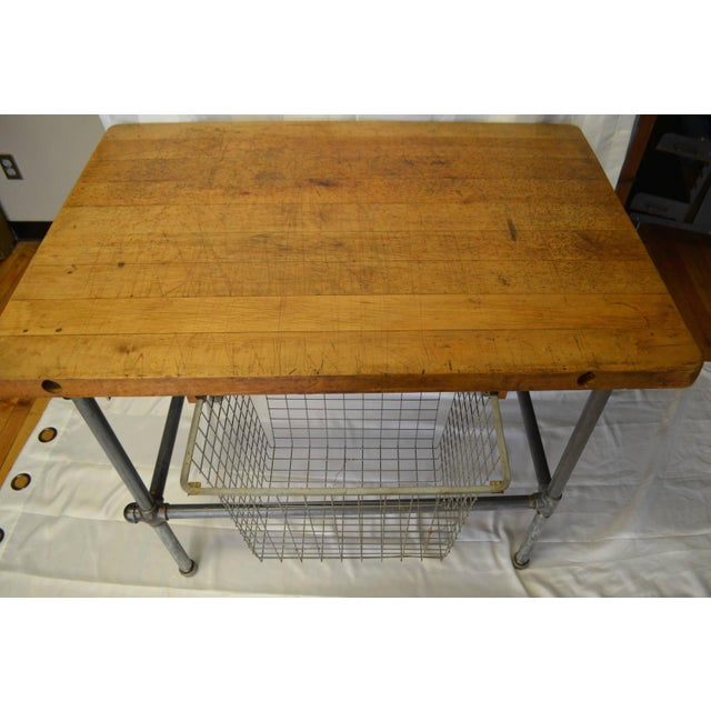 Maple Top Kitchen Island with Sliding Baskets - Image 5 of 9