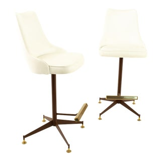 Mid Century Bar Stools - Pair For Sale