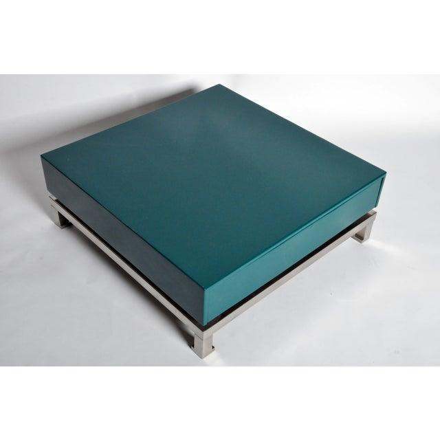 Blue Table Bases by Guy Lefevre for Maison Jansen For Sale - Image 8 of 11