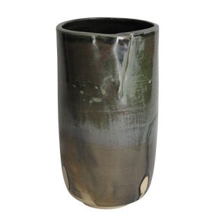 Studio Pottery Vase with Fold