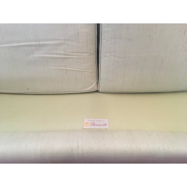White Thomasville Mid-Century Modern Curved Sofa For Sale - Image 8 of 9
