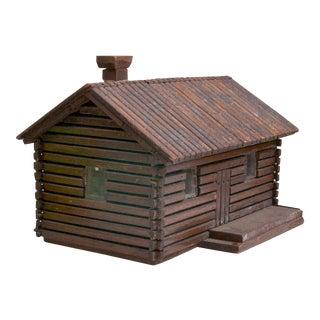 Vintage Handmade Log Cabin Model For Sale