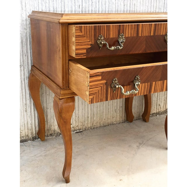 Wood 20th Century Pair of Mid-Century Modern Nightstands With Two Drawers, Italy For Sale - Image 7 of 10